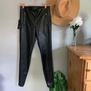 Zara Pants - NWT Zara Trafaluc Leather Pants